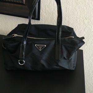 Black Prada nylon handbag