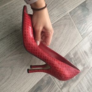Enzo Angiolini Shoes - Beautiful candy apple red peep toes!