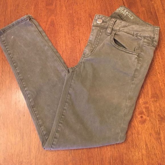 575abcdddcf36 American Eagle Outfitters Pants | 2day Only Ae Sateen X Jegging Crop ...