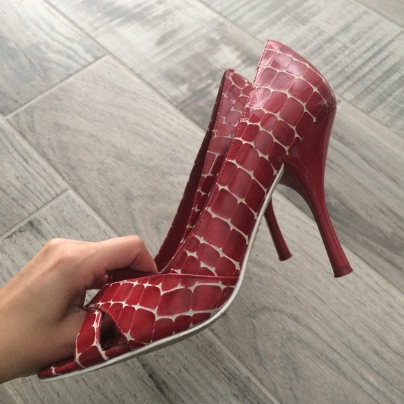 Enzo Angiolini Shoes - Candy Apple peep toes!!