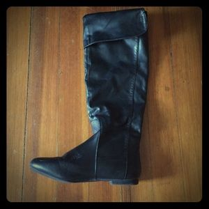 Shoes - Black slip on riding boots