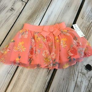 Cherokee Matching Sets - Polka dot onesie, matching floral skirt set