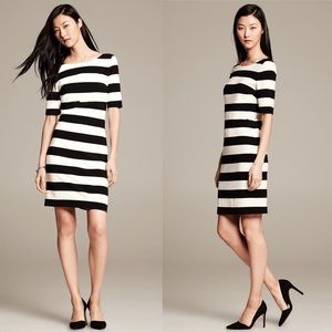Banana Republic Classic Bold Stripe Tshirt Dress
