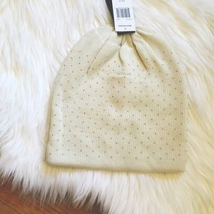 Steve Madden Accessories - Rose Gold Studded Cozy Beanie
