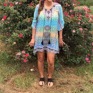 Boutique Dresses & Skirts - VINTAGE STYLE BOHEMIAN PRINT DRESS BNWT RUNS LARGE