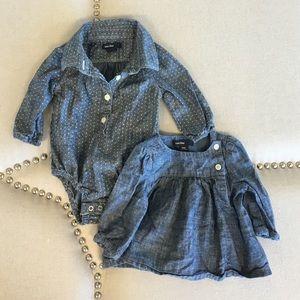 Gap Denim shirt lot - 2 0-3 month tops