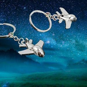 Jewelry - Polished Chrome 3D Airplane Key Chain