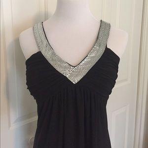 Size 4 BISOU BISOU black dress with stone V