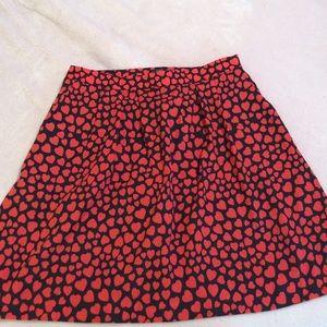 NWOT JCrew Hearts Skirt (Navy Blue)