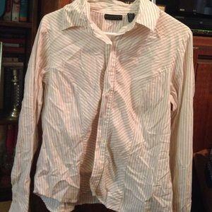Apostrophe Tops - Apostrophe stretch size medium striped blouse