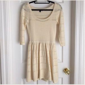 NWOT Cream sweater dress