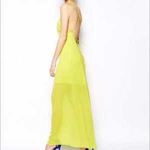 Strappy neon maxi dress perfect for summer