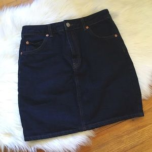 Topshop Dresses & Skirts - Topshop Moto Denim Skirt