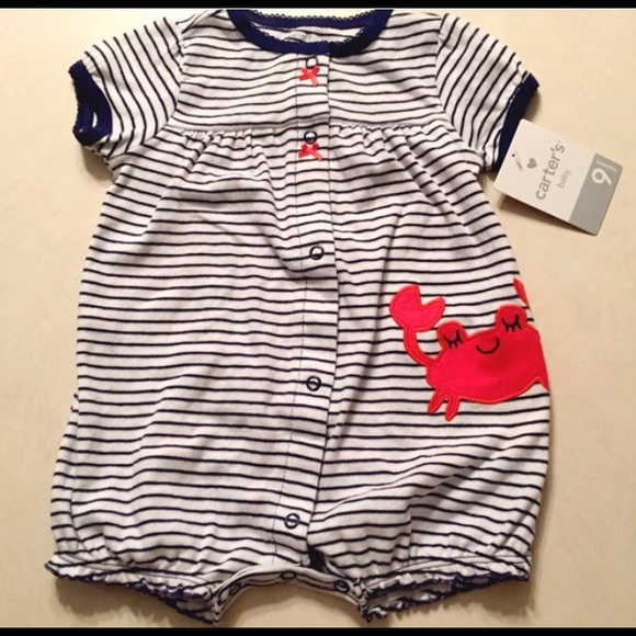 84b153627 Carter's One Pieces | Carters Crab Striped Outfit | Poshmark