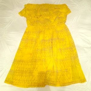 Francesca's Collections Dresses & Skirts - Vibrant Yellow Strapless Summer Dress