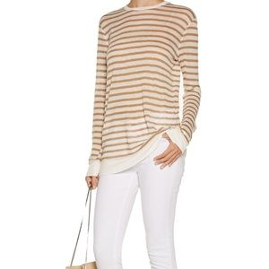 Alexander Wang Tops - T by Alexander Wang Tan Striped Tee
