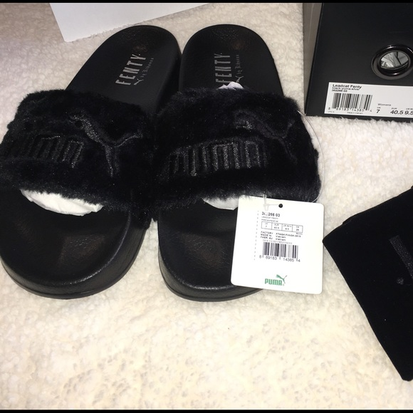 cad22de12 Puma Shoes | Rihanna Leadcat Fenty Faux Fur Slide | Poshmark