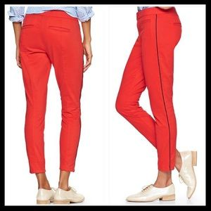 gap // super skinny piped skimmers • red