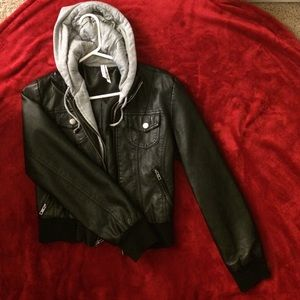 Ashley Graham Jackets & Blazers - Black leather jacket