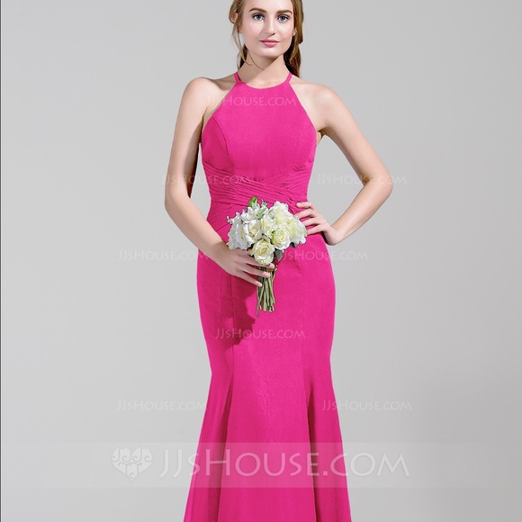 JJ\'s House Dresses | Jjs House Fuchsia Chiffon Mermaid Dress | Poshmark