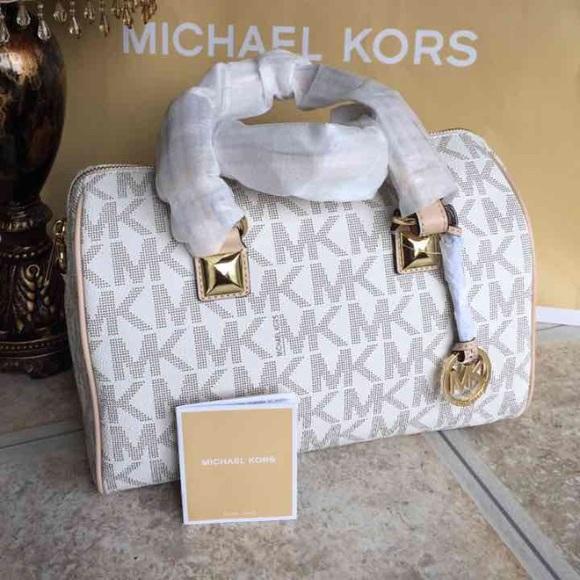 michael kors bags grayson satchel vanilla medium poshmark rh poshmark com