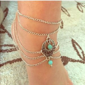 Jewelry - Pair of Boho Indie Silver Ankle or Arm Jewelry