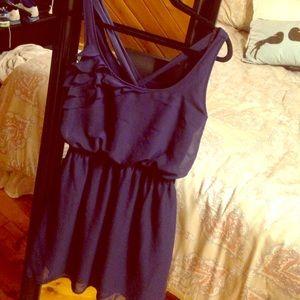 Eyelash Couture Dresses & Skirts - Sweet Navy Chiffon sundress with ruffle detail XL