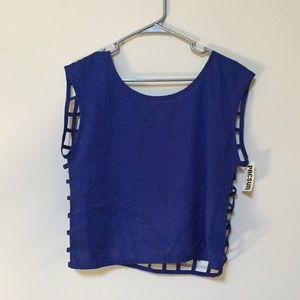 Never Worn Cobalt Blue Crop Top From PacSun