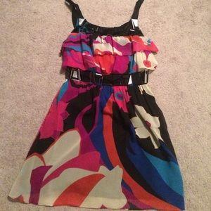 Tibi floral silk dress- size 0