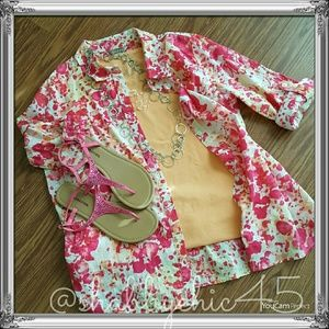 2/$15 Button Down Blouse with matching Tank