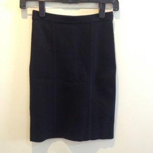 BCBGMaxAzria Dresses & Skirts - BCBGMaxAzria Black Knit Pencil Skirt