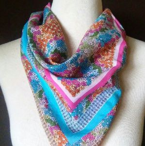 2for1 NEON Floral Head/Neck Scarf
