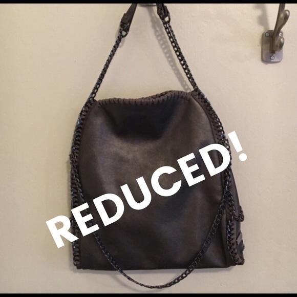 638befed97 Steve Madden Bags | Totally Chain Tote In Pewter | Poshmark