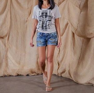 Eagle and Cross Mineral Wash T-Shirt