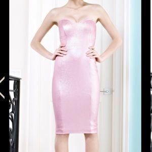 Pink sequin Twenty Cluny strapless dress