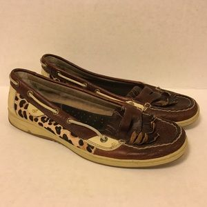 Sperry Top-Sider Shoes - Sparry Top-Sider Cheetah Print Boat Shoes sz 11