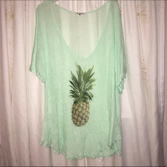 0cc6717306fc4 Adorable Mint Green Wildfox Pineapple Cover Up. M 57917bd7eaf0308b06008481