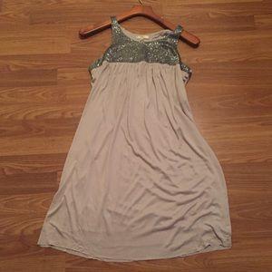 Matty M Jersey and Beaded Tank Dress