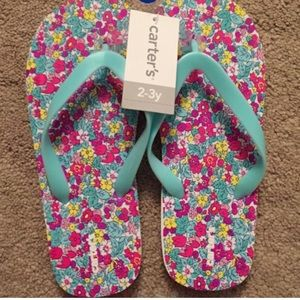Carter's Other - Carter's floral printed flip flops. Size 2-3y. NWT