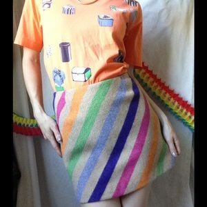 Trina Turk Dresses & Skirts - Trina Turk Rainbow Stripe Mod Mini Skirt Wooly