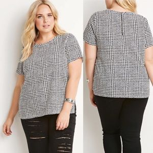 FOREVER 21 Plus Size Abstract Print Top