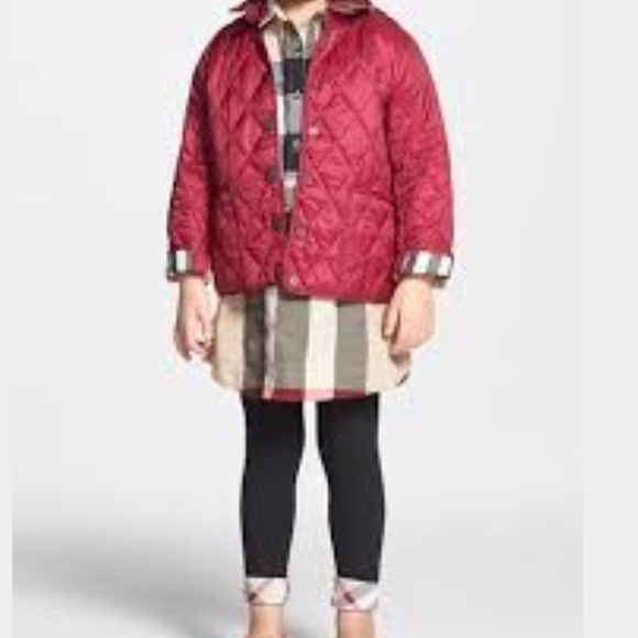Burberry Girls Quilted Jacket 52577bfd432a