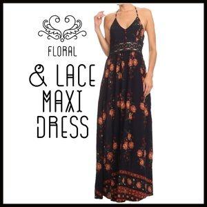 Boutique Dresses & Skirts - Floral n' Lace Maxi Dress