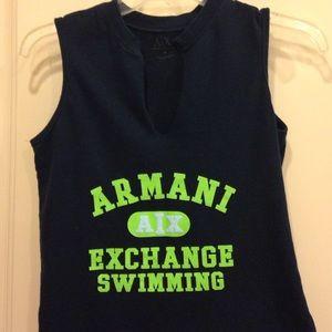 Armani Exchange Tops - Armani exchange dark navy shirt