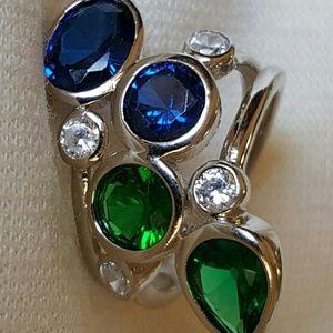 "Jewelry - NWOT - RING sz 6.5- ""Emerald"", Sapphire"