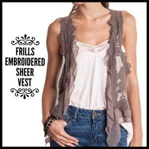 Boutique Jackets & Blazers - Ruffled Vest ($ FIRM unless bundled-Retail item)