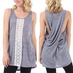 April Spirit Tops - 🔴LOVELY LACE TRIMMED LOOS FITTING TANK TOP
