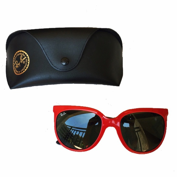 Ray-Ban Accessories | Rayban Cats 1000 Red Frame Black Lens ...