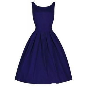 Dresses & Skirts - Blue cotton vintage dress