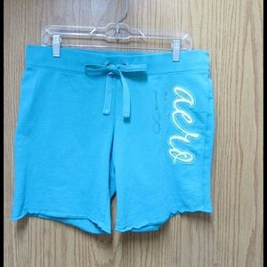 Aeropostale Pants - Cute Turquoise Pair of Relaxing Shorts W/Ties